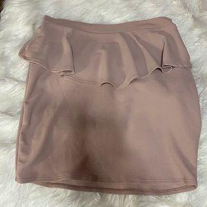Plus Size Pastel Pink Skirt